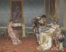 Vittorio Reggianini (Italian, 1858-1939) The suitor