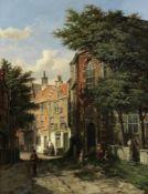 Willem Koekkoek (Dutch, 1839-1895) Dutch street scene