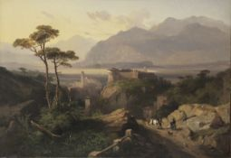 Jules Louis Philippe Coignet (French, 1798-1860) Vue de Grottaferrata