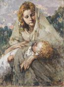 Vincenzo Irolli (Italian, 1860-1945) Maternità