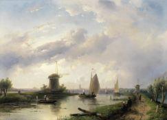 Charles Henri Joseph Leickert (Dutch, 1816-1907) A summer's day in Holland