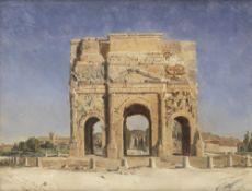Alphonse Henri Perin (French, 1798-1874) Vue de l'Arc romain d'Orange