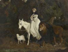 Charles Burton Barber, ROI (British, 1845-1894) The Lamb with the Lion