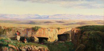 Edward Lear (British, 1812-1888) The Campagna di Roma taken from Cervara