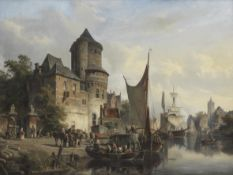 Cornelis Springer (Dutch, 1817-1891) Delft