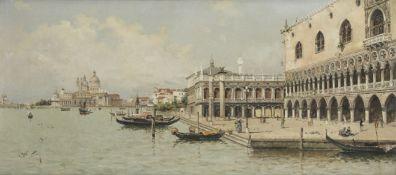 Antonio María de Reyna Manescau (Spanish, 1859-1937) The Doge's Palace and the Molo, Venice ...