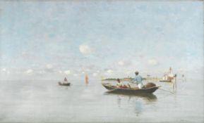 Pietro Fragiacomo (Italian, 1856-1922) On the Lagoon