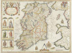 IRELAND SPEED (JOHN) The Kingdome of Irland, with six costumed figures, Thomas Baskett and Richar...
