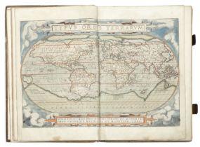 ORTELIUS (ABRAHAM) Theatrum orbis terrarum, 2 parts in 1 vol. (including Synonymia), Antwerp, A. ...