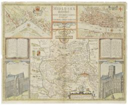 MIDDLESEX SPEED (JOHN) Midle-Sex Described with the Most Famous Cities of London and Westminster,...