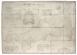 CORNWALL MARTYN (JOHN) A New and Accurate Map of the County of Cornwall, from an actual Survey, F...