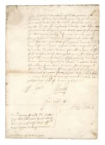 CHARLES I - PRIVY COUNCIL Document signed by William Laud (Archbishop of Canterbury), Whitehall,...