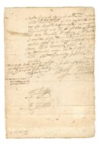 ELIZABETH I - PRIVY COUNCIL – LOW COUNTRIES Letter signed by five members of Queen Elizabet...