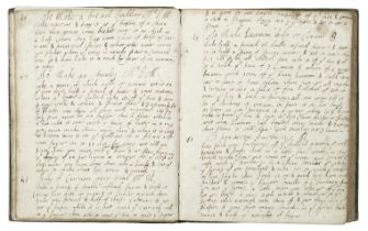 COOKERY Manuscript culinary and medicinal recipe book, containing some 320 receipts written in se...