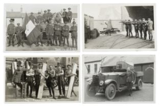 IRELAND - IRISH DEFENCE FORCES, CIVIL WAR AND EMIGRATION Album of approximately 200 private photo...