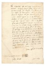 HENRY VIII – MINISTERS OF STATE Letter signed by Henry VIII's ministers of state, Baynard'...