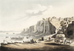 After Sir Thomas Anburey (British, late 18th/early 19th Century) 'View of Kalpy on the Jumna'; an...