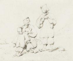 George Chinnery RHA (Tipperary 1774-1852 Macau) Tanka women and child