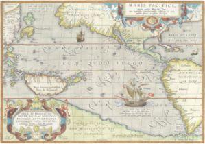 PACIFIC OCEAN ORTELIUS (ABRAHAM) Maris Pacifici (quod vulgo Mar del Zur) cum regionibus circumiac...