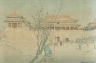 Elizabeth Keith (British, 1887-1956) Forbidden City Gate, Peking