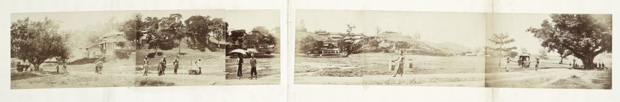 CHINA - PANORAMA Panoramic photograph of an unidentified view in China, by an unknown photographe...