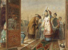John Rogers Herbert (British, 1810-1890) The Chinese Bride