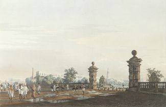 James Baillie Fraser (British, 1783-1856) 'A View of Tank Square [Calcutta], from the West'; and ...