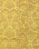 A set of three panels of yellow silk and linen brocatelle Italian, 17th century