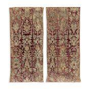 An impressive pair of red silk velvet curtains Italian, probably Florentine, mid-17th century ((2))
