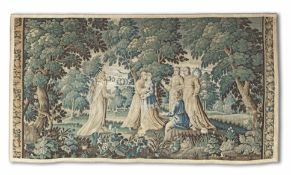 A Verdure tapestry Probably French, late 17th century (possibly later cut down)