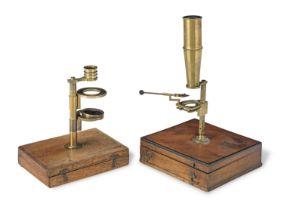 Two Pocket Microscopes, English, early 19th century, (2)