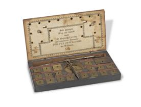 A Cased Set of Coin Scales 18th century,