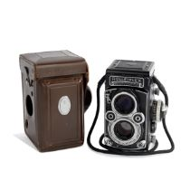 A Rare White Faced Rolleiflex Camera,
