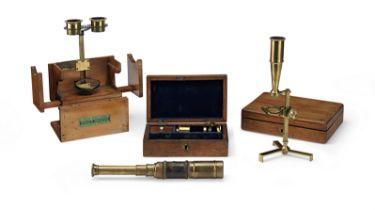A Group of Three Microscopes, English, 19th century, (3)