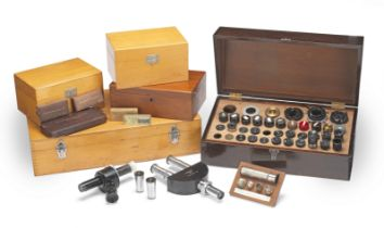 A Collection of Microscope Accessories, 20th century,