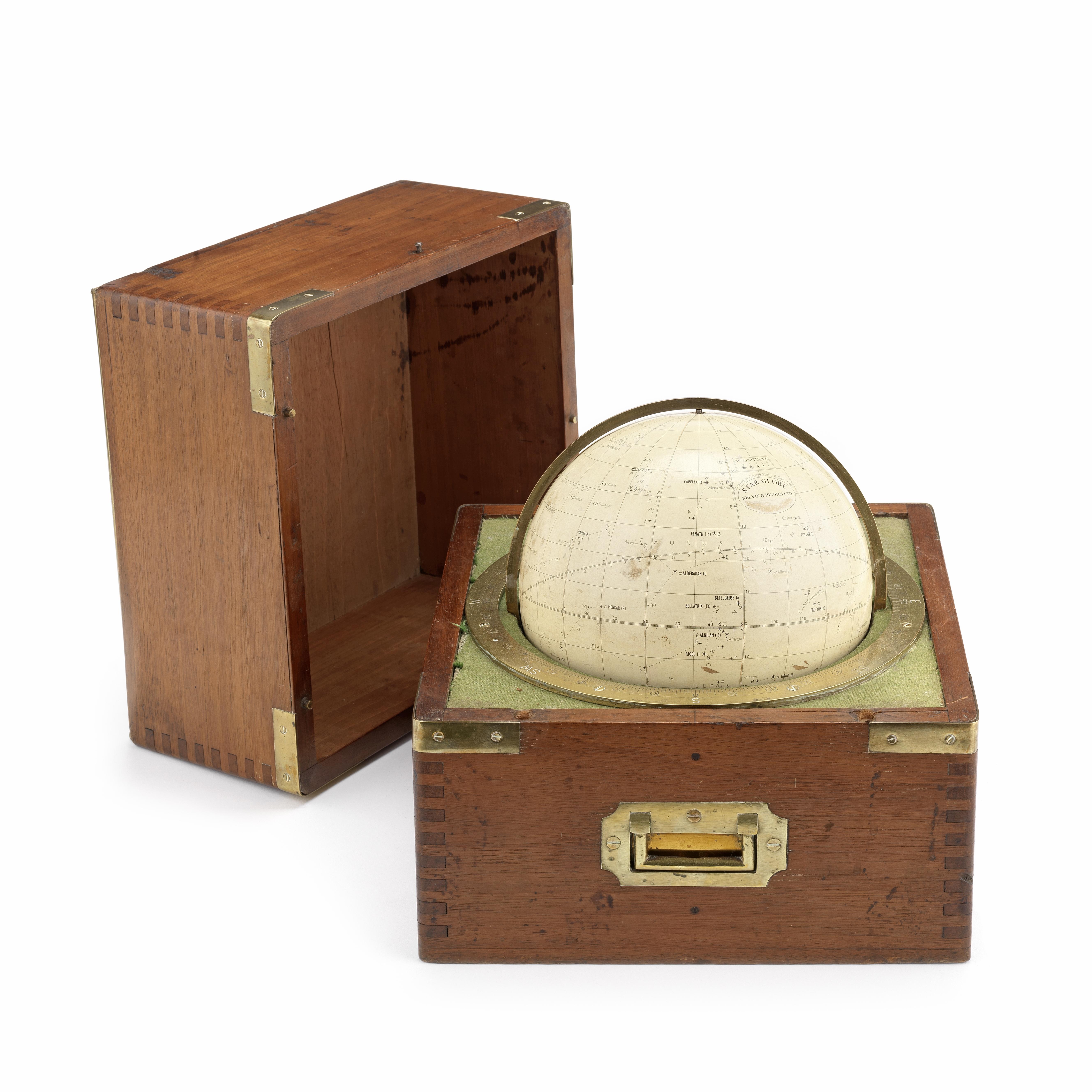 A Kelvin & Hughes Ltd 7 1/4-inch Star globe, English, mid 20th century,