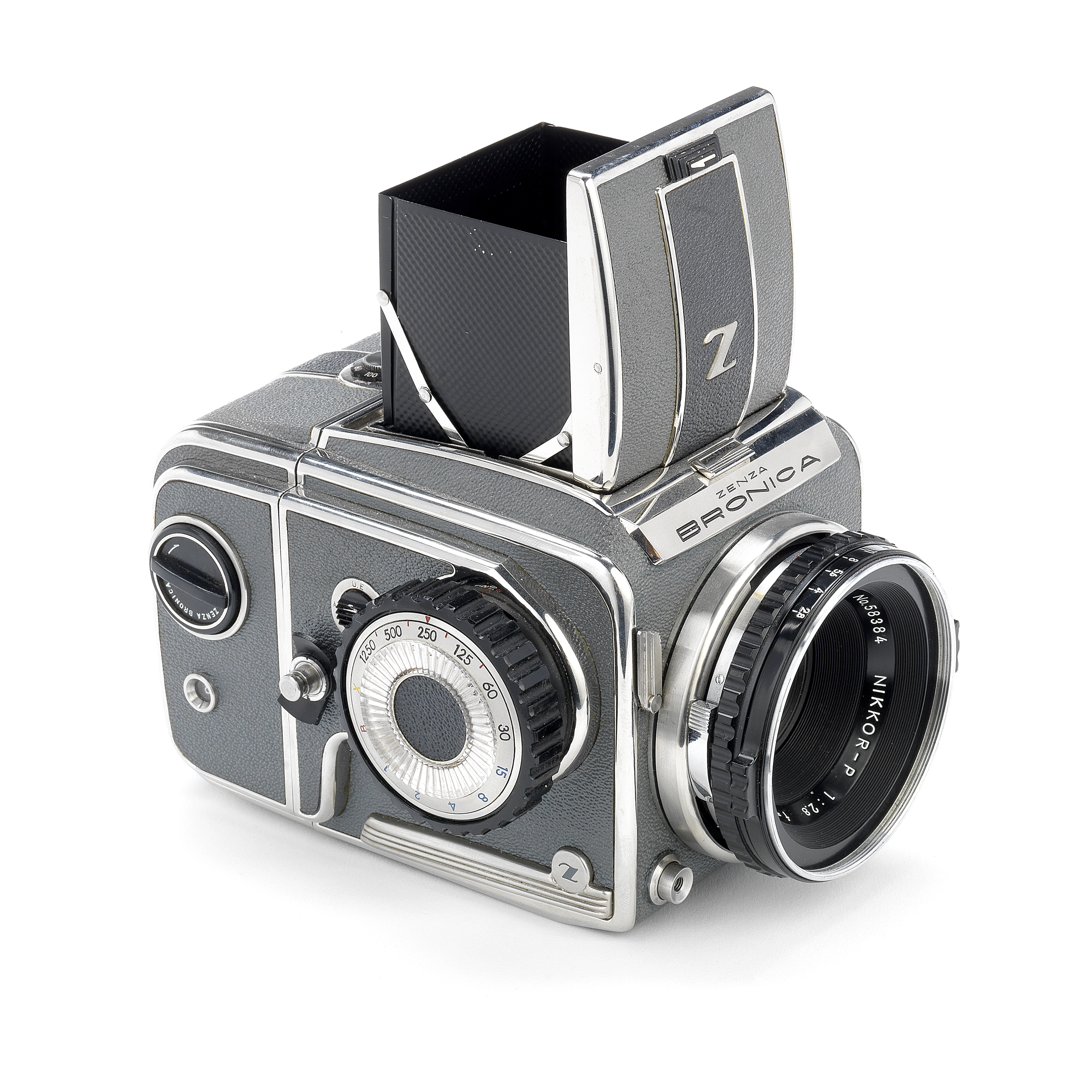 A BRONICA delux Type 2 SLR camera,