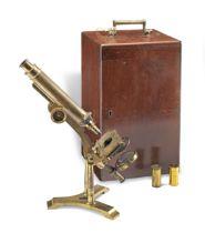 A J.B Dancer Brass Compound Monocular Microscope, English, circa 1870,