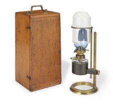 A Microscope Bench Lamp, English, circa 1880,