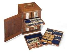 A Large Collection of Microscope Specimen Slides, English, late 19th century,
