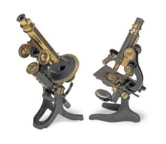 Two Compound Monocular Microscopes, early 20th century, (2)