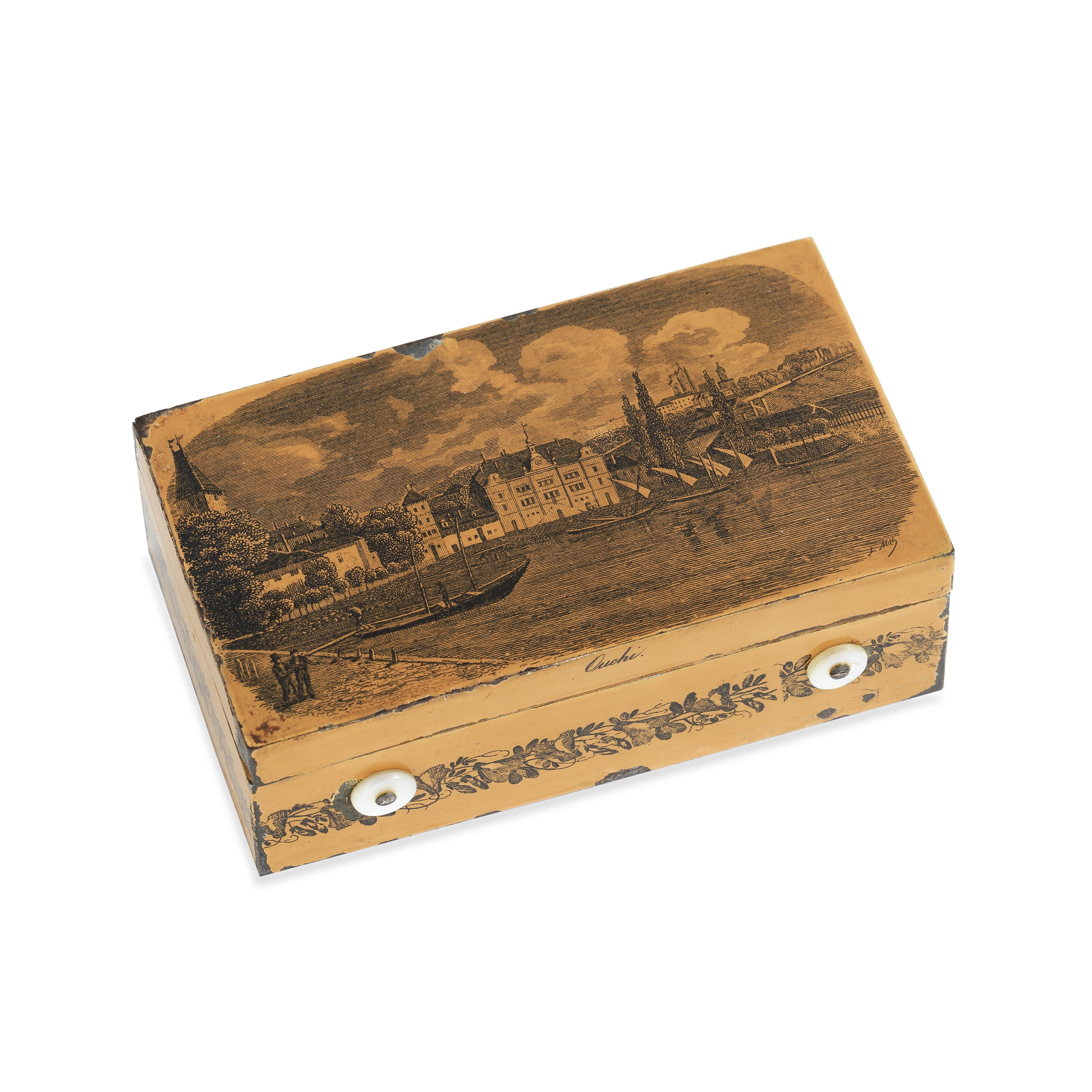 A Small Cylinder Musical Box, Swiss, circa 1840,