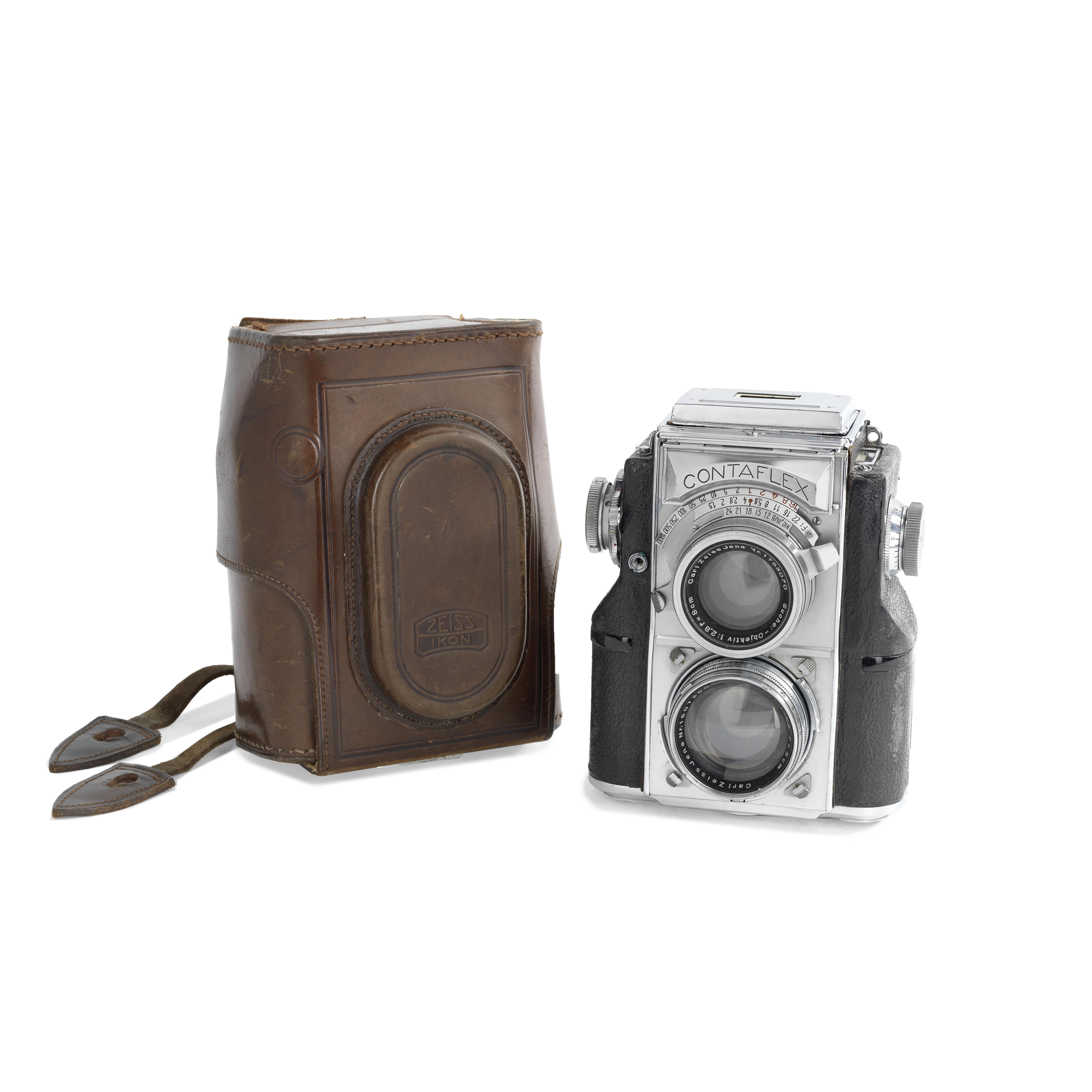A Zeiss Ikon Contaflex Twin-Lens Reflex Camera,