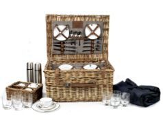 A wicker-cased four-person picnic set for Rolls-Royce, by W Gadsby & Son, ((9))