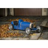 An electrically powered 'Type 52 Baby Bugatti' replica child's car, circa 2002,