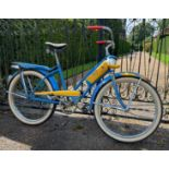 A Shelby 'Donald Duck' girls' bicycle, by the Shelby Cycle Company of Ohio, circa 1949,