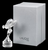 A boxed Rolls-Royce 'Spirit of Ecstasy' glass mascot by Crystal Lalique of Paris, 1994,