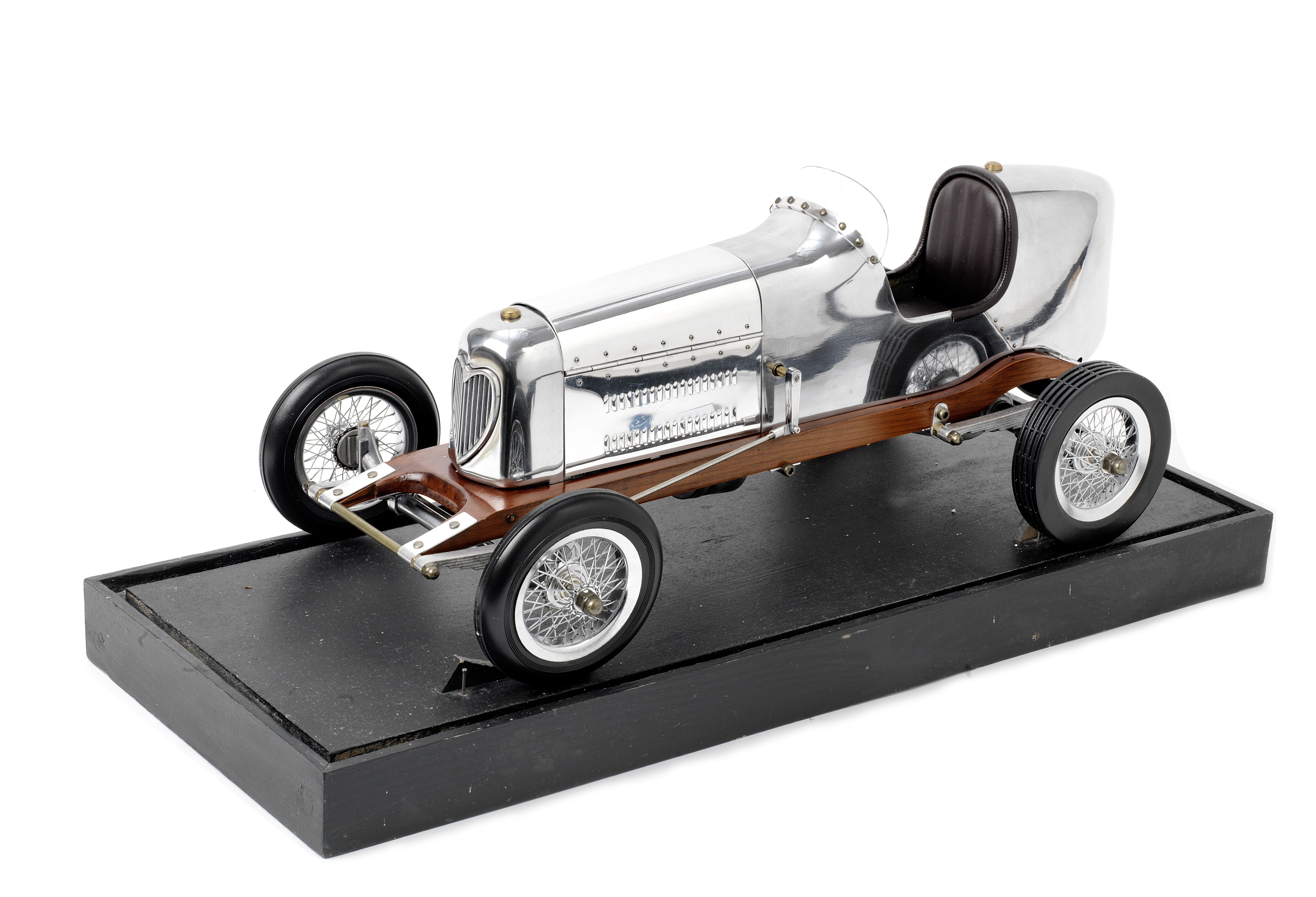 A 1:8 scale model of a single seat racing car,