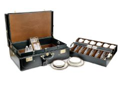 A leather-cased picnic set for six persons by Dunhill, circa 1995