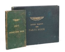 An Aston Martin DB4 Parts Book and Instruction Book, ((2))